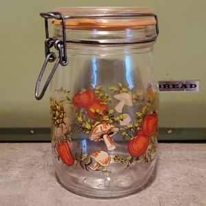 🦕3/$10 Vintage Mushroom Veggie Glass Container
